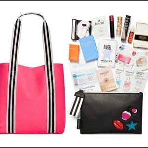 Macy's makeup bags with samples!